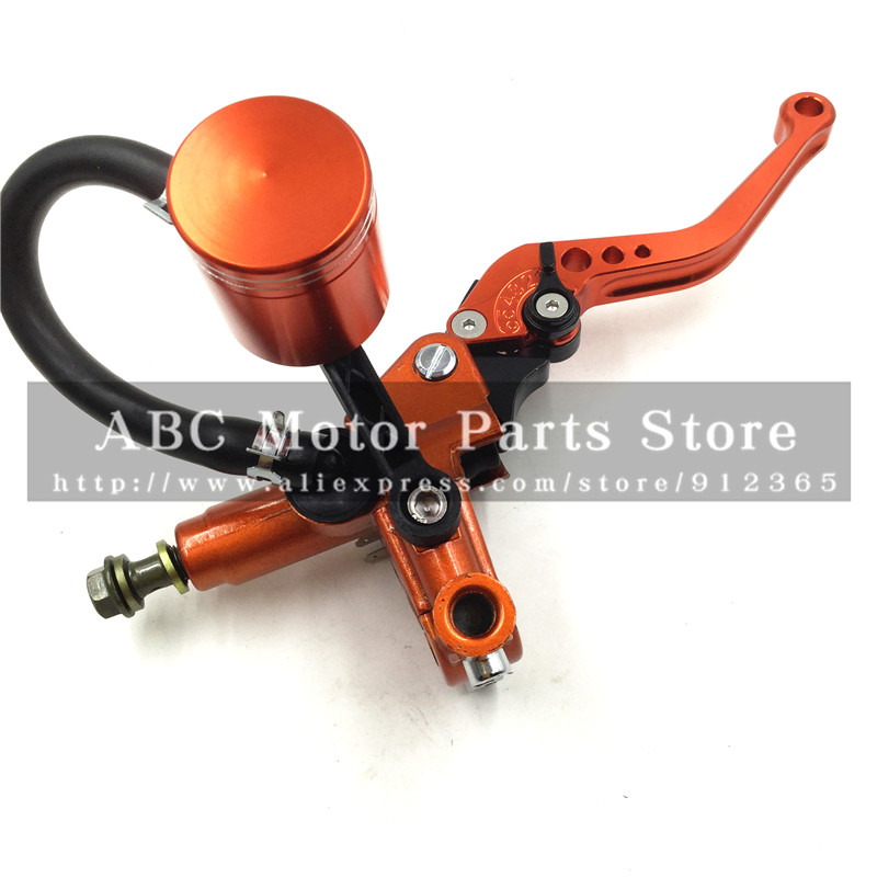 Hydraulic Brake Lever for KTM Dirt Bike Pit Bike With Mirror Mounts 5 gear Lever motorcycle motocross CNC Oil Cup Orange Colour