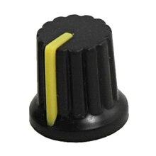 10 Шт. 6 мм Вал Dia Отверстия Накатанной Ручка Потенциометра Пот Ручки Крышки
