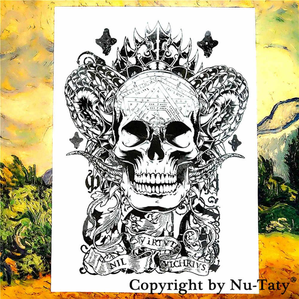 3132d31b9 ... Nu-TATY Satan The Demon Temporary Tattoo Body Art Flash Tattoo Stickers  21*15cm ...