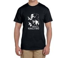 2017 New ronaldinho T-Shirt Men Short Sleeve O Neck fashion 100% cotton T-shirts brazil fans gift 0219-5