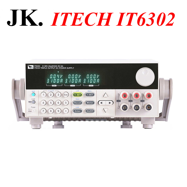IT002 ITECH IT6302 New Original Authentic 3 Channels Programmable DC Power Supply 30V/3A/90W*2CH and 5V/3A/15W*1CH itech k136dw