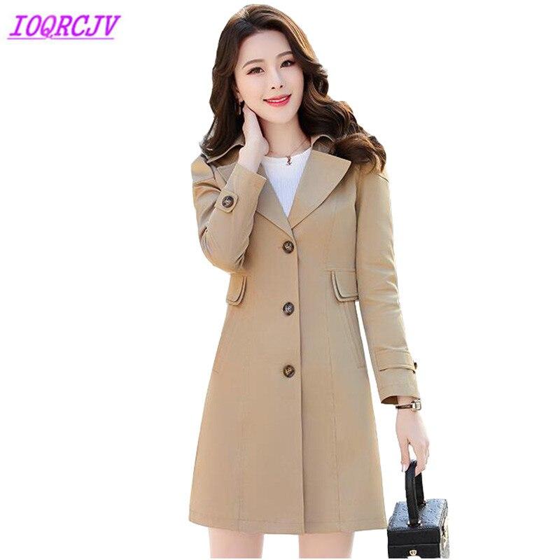 Boutique trench coat Women 2018 spring autumn Windbreaker for female Plus size Slim coat Medium length lady top IOQRCJV H304