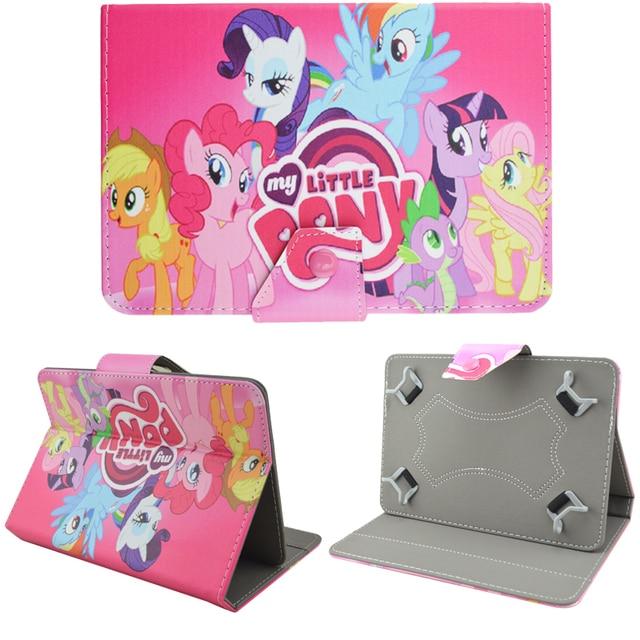 Cartoon Mon petit Poney Princess Celestia Luna Pony Leather Cover Case Fit For 7 inch Android Tablet Pad & Ipad Mini 1/2/3