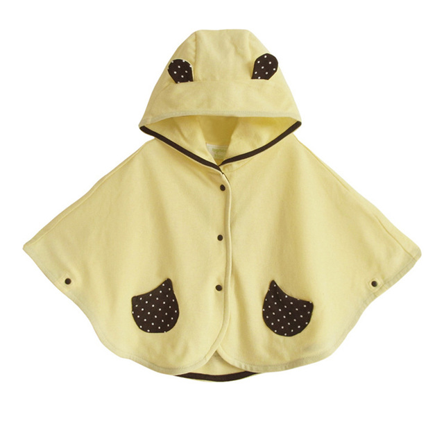 Toddler Boy Girls Cloak Spring Autumn Baby 100% Cotton Lovely Hooded Outerwear Infant Coats cappotto neonato casaco infantil