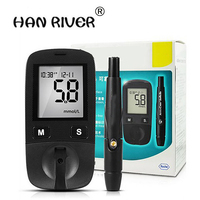 Hot Sale Blood Sugar Tests Active Blood Glucose Meter With Pen For Care Blood Test Diabetes Household Monitor
