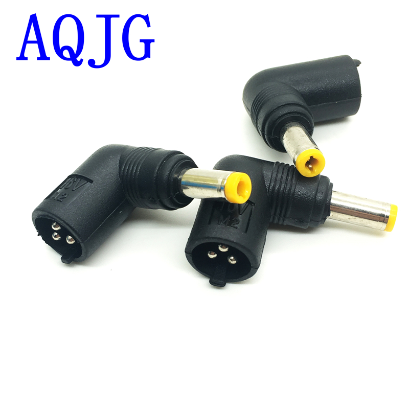 1pcs Angle 90 degree <font><b>16V</b></font> 3pin Female <font><b>DC</b></font> Power Conversion Jack to Male 5.5*2.1mm male Power Plug Connector <font><b>Adapter</b></font> Laptop AQJG image
