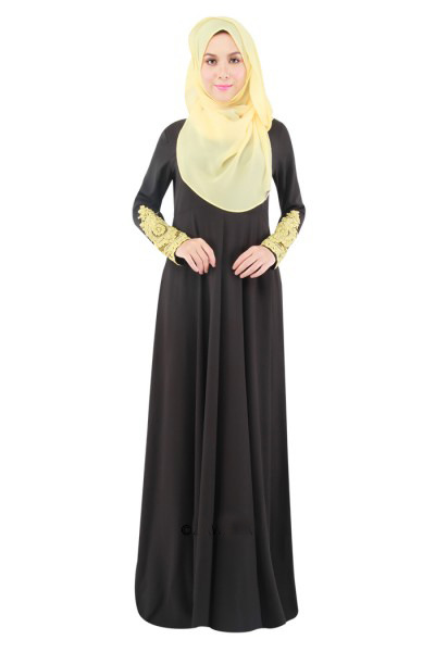 4 colours fashion simple new design turkish abaya big hem