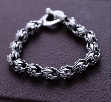 silver 925 bracelets mens bracelets 2018 mens jewellery 10mm 21.5cm length жакет прямой из денима нашивка птичка