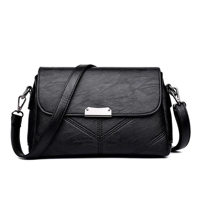 8ab42f65e06a5 Chu JJ Women's Genuine Leather Handbags Fashion Thread Bags Shoulder  CrossBody Bags Women Messenger Bag Ladies Bolsas Feminina