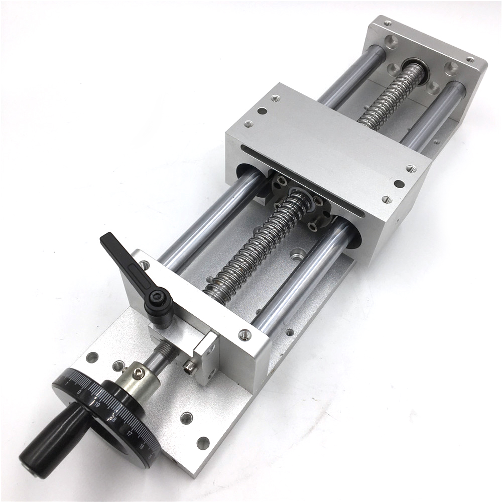 Linear Guide Manual Sliding Table Effective Stroke L700mm Cross Slide SFU1605 C7 Ballscrew CNC Machine