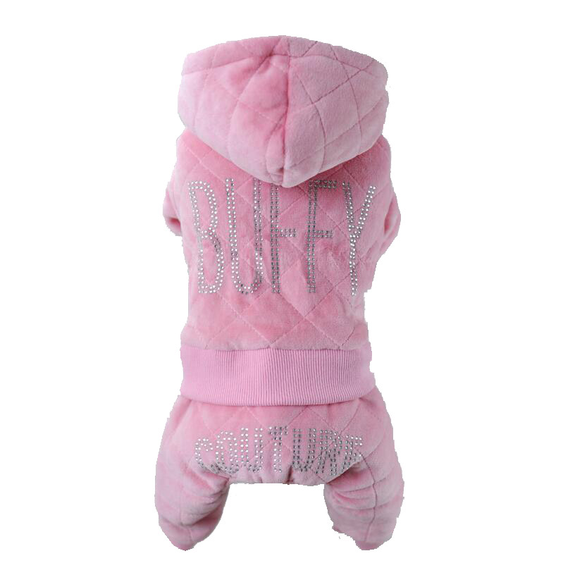 Petalk Dark Blue Pink Winter Dog Coat Clothes Thicken Warm Dog Jumpsuit Teddy outfit For Small Dogs Puppy in Jumpsuits Rompers from Home Garden