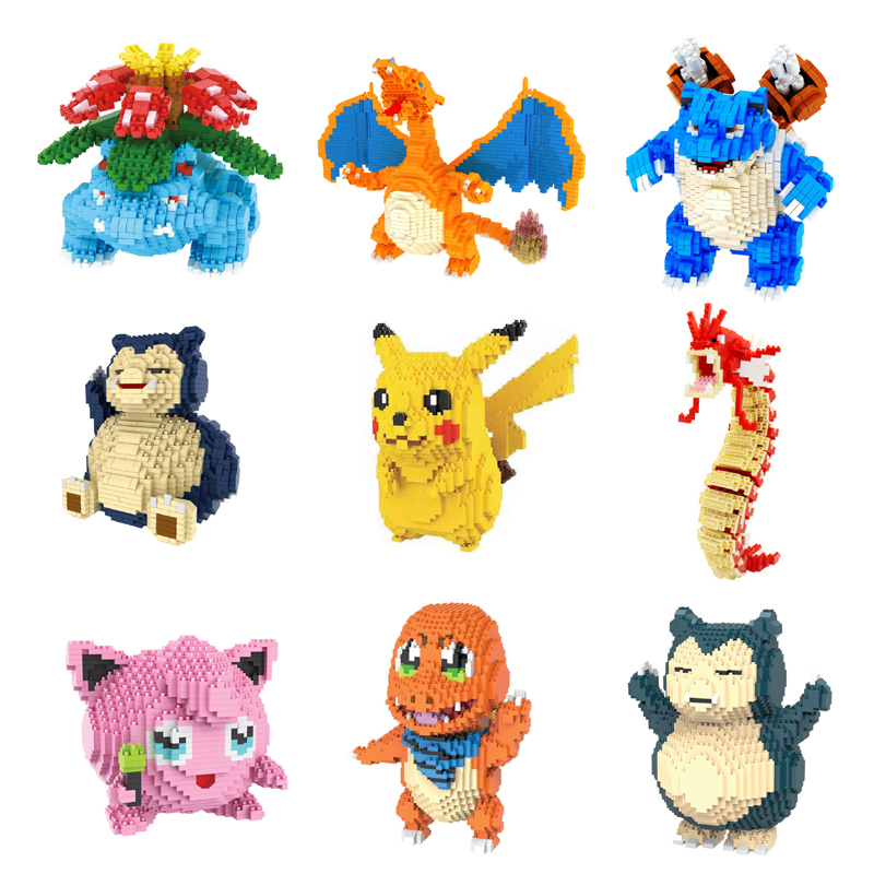Pocket Monster Pikachu Venusaur Blastoise Mini Building Diamond Small Blocks Toy Charizard Gyarados Snorlax Jigglypuff No Box
