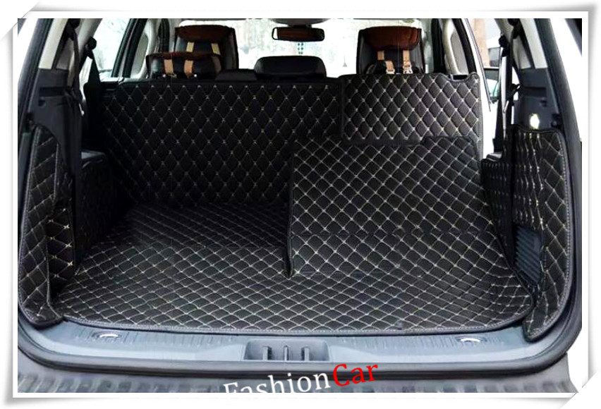 Car Rear Trunk Mat Boot Pads Liners For Ford Everest SUV 4 Door 2015 2016 2017 Car styling accessories follow me down