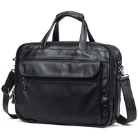 100 Natural Cow Leather Men Handbag Big Volume 15 Inch Laptop Bag Genuine Leather Shoulder Bags