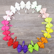 500pcs/lot Wholesale boutique hair bows Barrettes 2.5″ Grosgrain ribbon bow with clips For girls children hair accessories