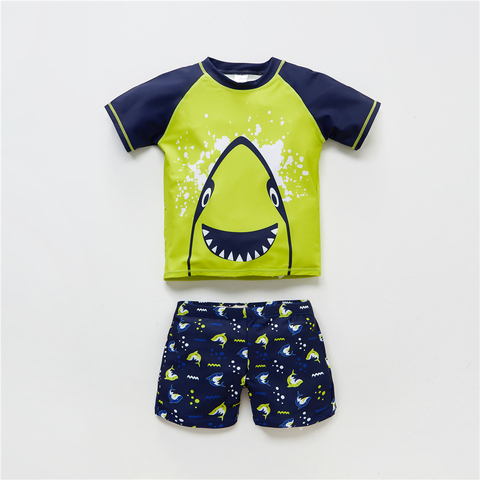 maio beach wear padrao de peixes crianca maio