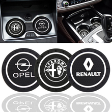 Almohadilla antideslizante para taza de coche BMW, Audi, Ford, Nissan, Chevrolet, Skoda, Volvo, 1/2 Uds.