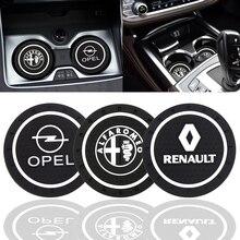 Dessous de verre de voiture en Silicone époxy, décoration de voiture, pour Alpha Opel Renault KIA BMW Benz Audi VW Honda Nissan Toyota Ford
