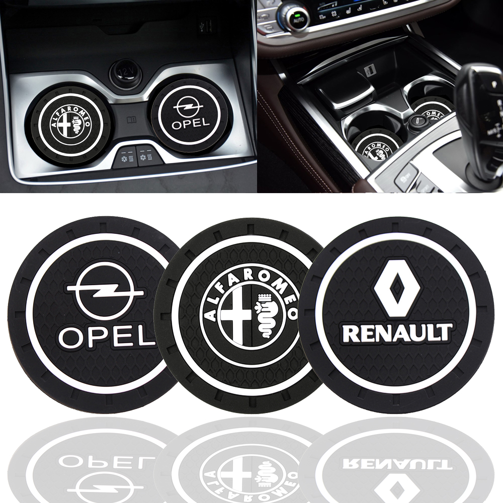 Fashion Car Coaster Silicone Epoxy Coaster Car Decoration For Alpha Opel Renault KIA BMW Benz Audi VW Honda Nissan Toyota Etc-in Anti-Slip Mat from Automobiles & Motorcycles