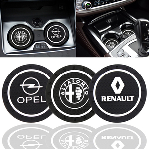 Fashion Car Coaster Silicone Epoxy Coaster Car Decoration For Alpha Opel Renault KIA BMW Benz Audi VW Honda Nissan Toyota Ford(China)