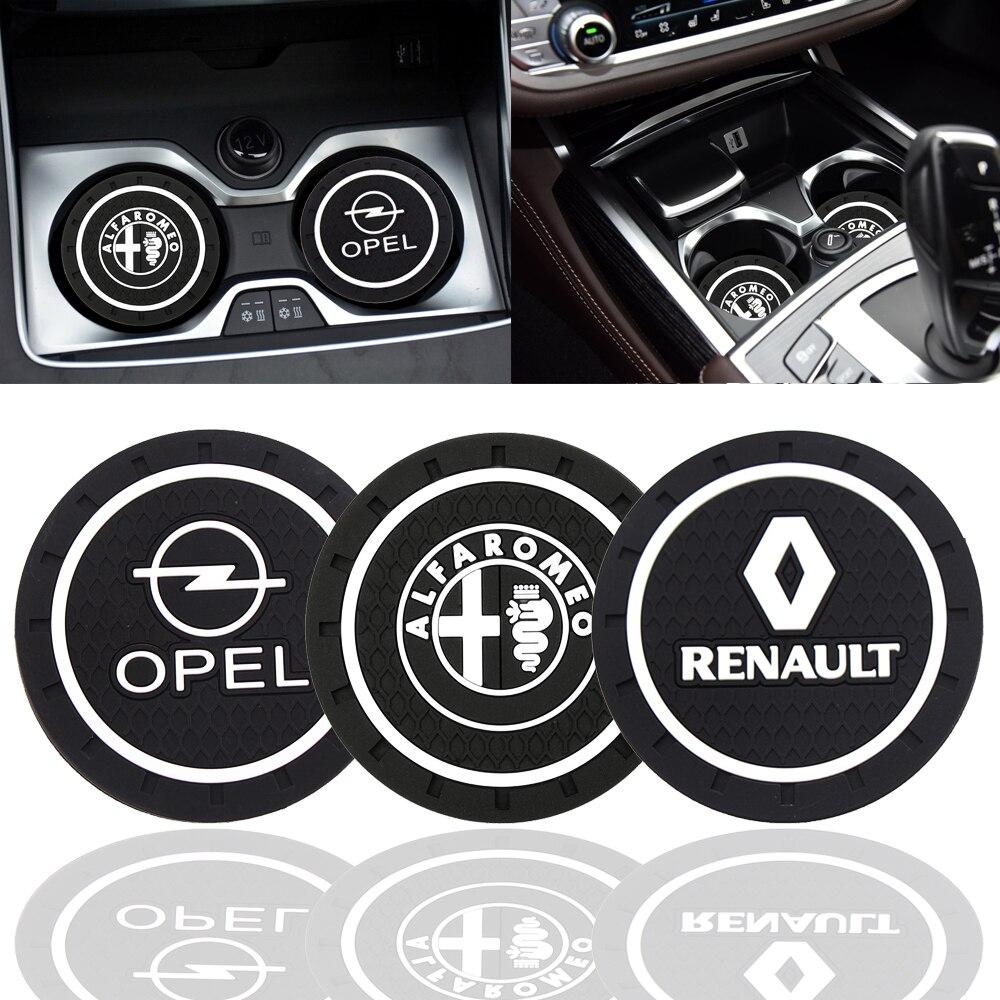 Posavasos de silicona epoxi de moda para decoración de coche para alfa Opel Renault KIA Benz Audi VW Honda Nissan Toyota Etc