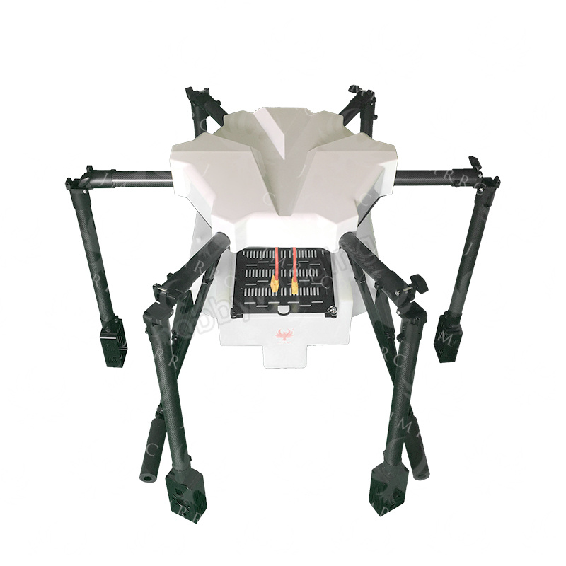 JMRRC 1650mm Wheelbase Agricultural Drone 15kg 15L water tank 30mm arm Carbon Fiber Folding UAV Hexacopter with white canopy esspero canopy