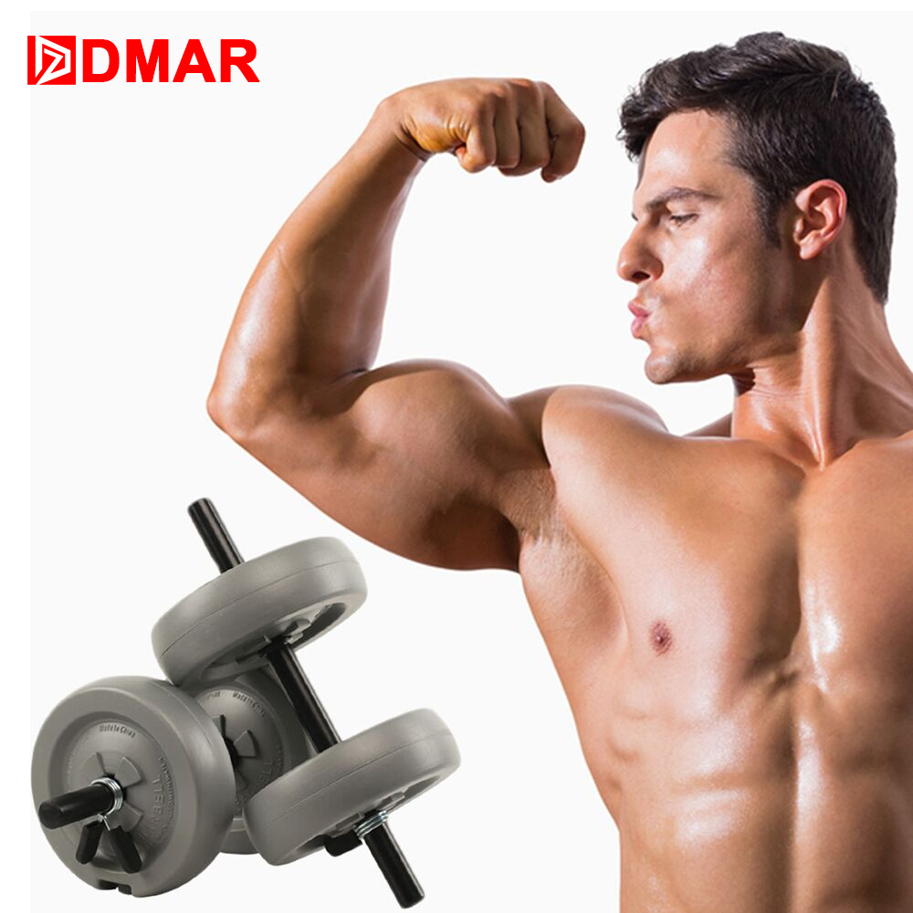 DMAR 2 pièces D'eau Haltères Réglables pour l'exercice physique haltères gym Hommes Femmes de remise en forme complet exerciseBarbell