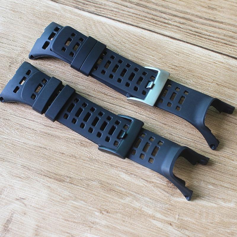 Acessórios relógio Pulseira De Borracha de Silicone Para 3 Pico-Ambit Suunto Ambit 2 Fivela Correa de Borracha Pulseiras de relógio Relógio dos homens banda