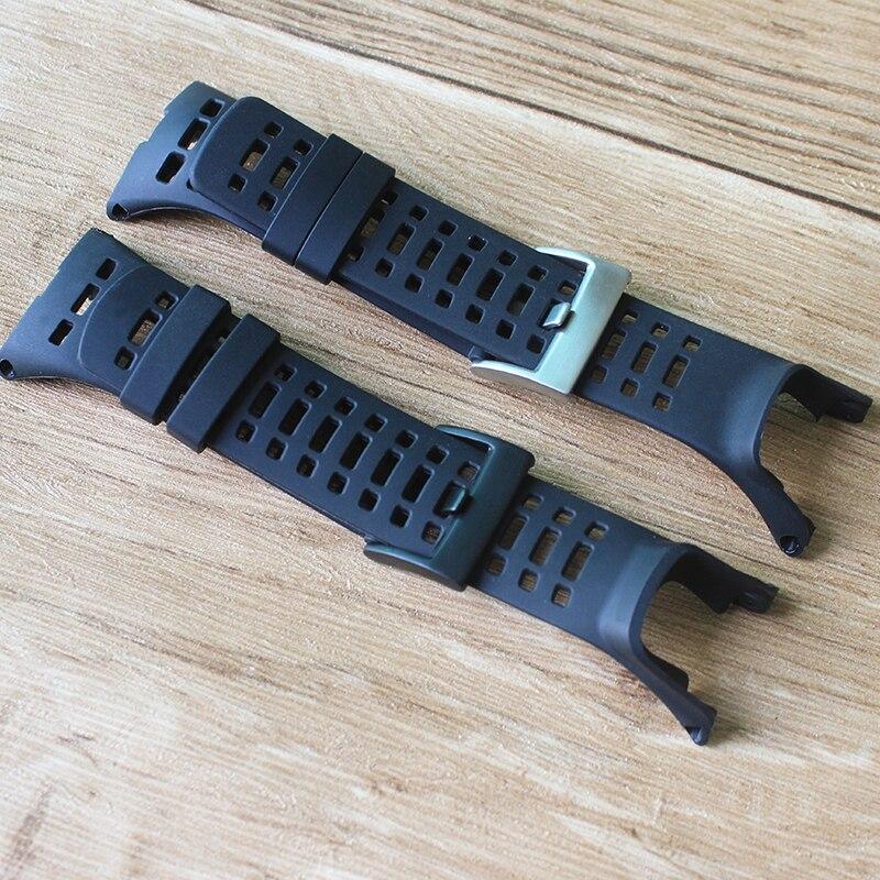 Watch Accessories Rubber Silicone Strap For Suunto Ambit 3 Peak / Ambit 2 Buckle Rubber Watchbands Correa Men's Watch Band
