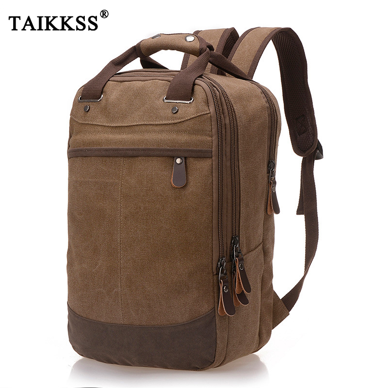 2019 New Fashion Canvas Hign Capacity Backpack Fit For 14-15.6 Inch Laptop Backpack Casual Travel Shoulder Bags Multifunctional