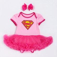 Superman bebé niña Romper tutú Romper vestido Jumpersuit + diadema 2 piezas juegos Halloween fiesta cumpleaños cosplay nuevo llegar