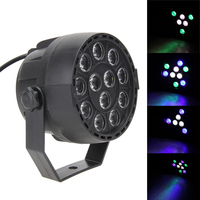 Stage Projector12 LED RGB 8 DMX Channels Stage Par Lights 12W Party Projector Led Flat Holiday