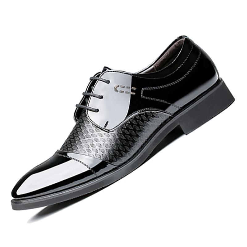Black brown Mariage En Pointu De Robe Automne Formelles Hommes Nouveau Pour Cuir Oxford D'affaires Repas Bout Up Chaussures Lace Printemps Respirant Mode Zq1S8wR