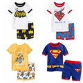 2015 Новый стиль детская одежда устанавливает гадкий я мальчики миньонов пижамы дети пижамы множеств, Мальчиков с коротким рукавом, 2 т - 7 т