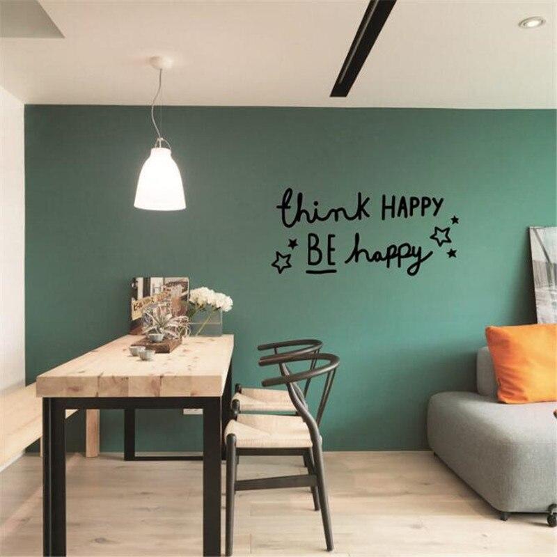 4 35 20 De Reduction Idfiaf Penser Heureux Anglais Proverbes Decor A La Maison Pvc Stickers Muraux Salon Bureau Etude Chambre Decor Vinyle