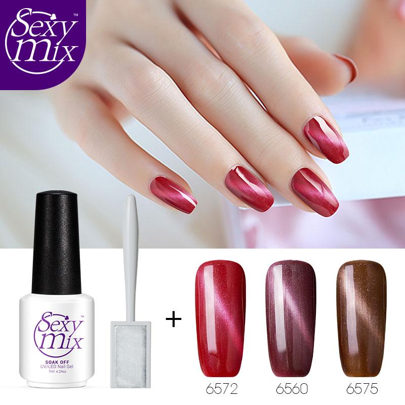 Aliexpress.com : Buy Sexy mix 3pcs/lot Magnetic Cat Eye Gel Nail Polish Set Professional Red ...