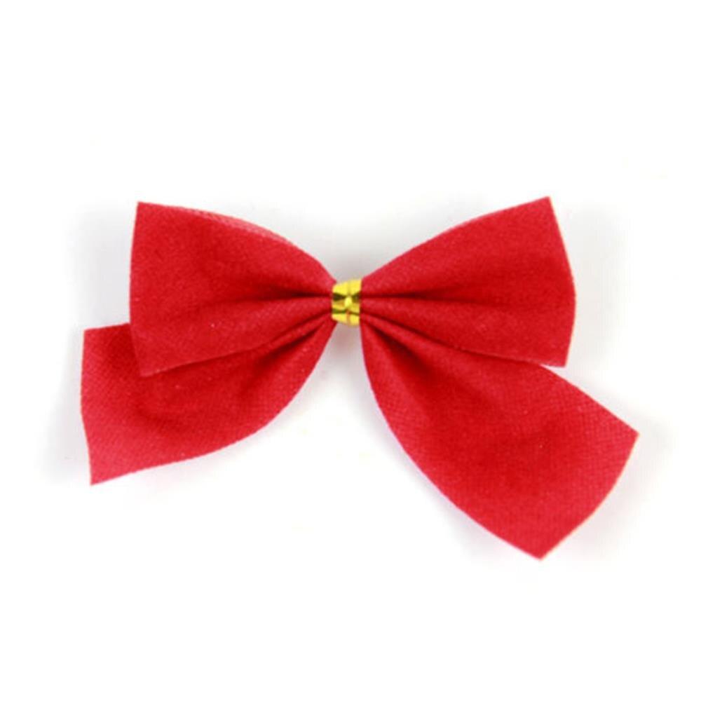 . Red 10 SMALL RIBBON BOWS