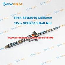 RM2010-L 550 мм шариковый винт+ SFU2010 гайка для станков с ЧПУ соответствовать линейный X Y Z Рабочий стол