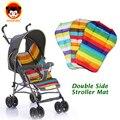 Assento carrinho de bebê almofada geral rainbow infantil dupla face mat carrinho de bebê carrinho de bebê almofada carrinho de bebê acessórios TC15