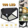 100 СВЕТОДИОДНЫЙ Уличный настенный светильник с солнечной батареей датчик движения водонепроницаемый свет безопасности