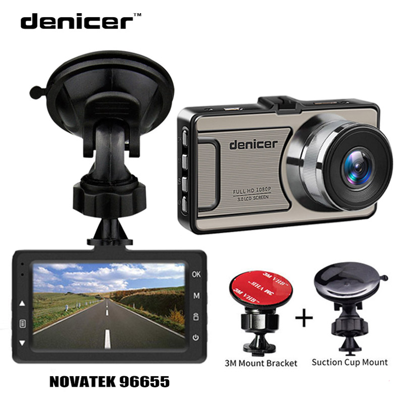 Denicer Dash camera Novatek 96655 Car Camera Full HD 1080P DVR 170 Degree Wide Angle 6G lens Car Vehicle Video Recorder Dash Cam car dvr vehicle camera dash cam driving video recorder 1080p hd camera 170 degree wide angle lens 3 inches screen night vision