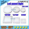 X2pcs Envío gratis NUEVO panel de luz Led cocina baño lámpara de 6 W 12 W 20 W 24 W 110-240 V LLEVÓ la luz con conductor 3 años de Garantía