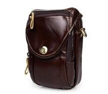 Maxdo 2016 New Real Genuine Leather Cowhide Mini Men Messenger Bags Mobile Phone Bag #M7297