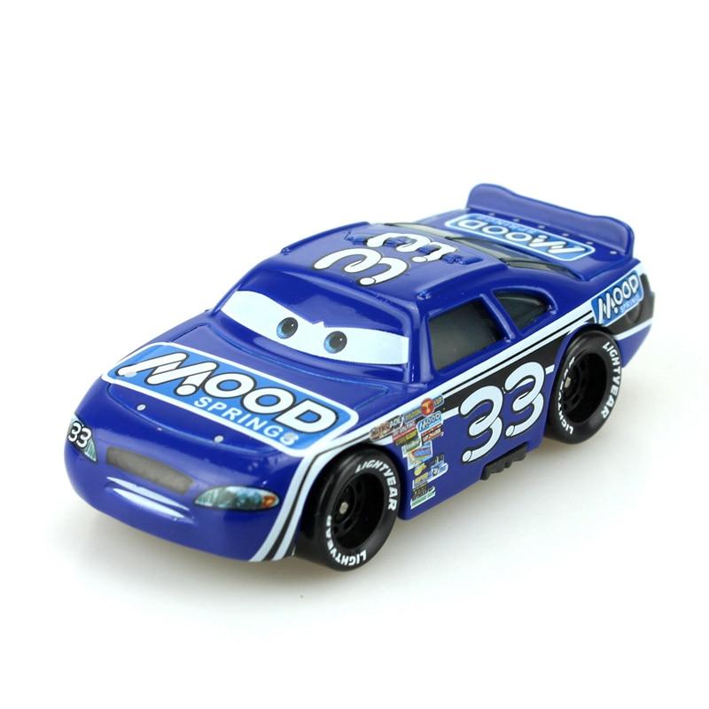 Disney Cartoon Pixar Cars No.33 Racing Cars 1:55 Diecast Brand Metal Alloy Toys Birthday Christmas Gift For Kids Cars Toys