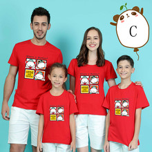 Parent-child T-shirts Lovely Chicken Shirt Lovers Family T-shirt Women Summer from Casual Tops Kid Parentage clothes DD10026