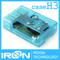 case H3: Raspberry PI 3 model B Clear Blue Case Cover Shell Enclosure Box for Raspberry PI 2 Model B and Model B+