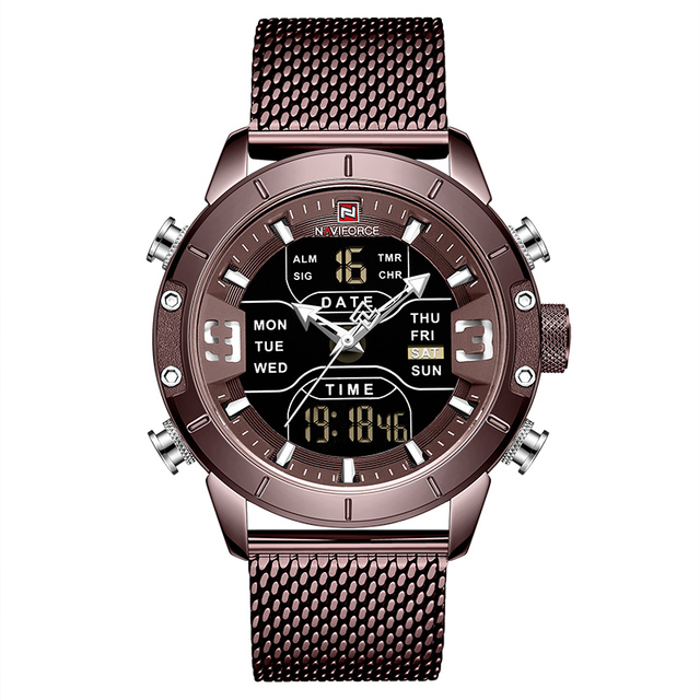 NAVIFORCE Watch Men Sports Quartz Watches Top Luxury Brand Steel Waterproof Wristwatch With Box Set For Sale Relogio Masculino
