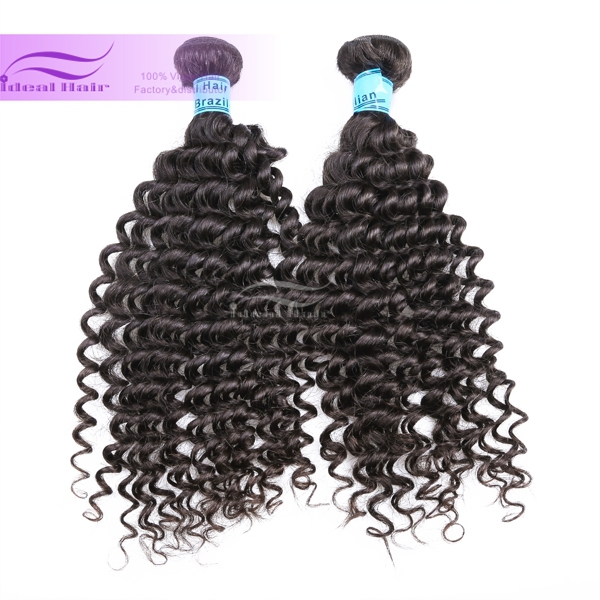 Ideal Hair Grade 6a Luxury Tiny Curl Brazilian Hair Weave High