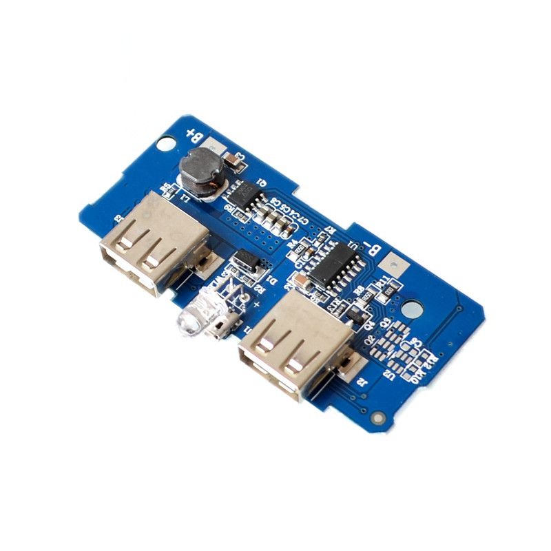 1pcs18650 battery 3.7V to 5V2A boost module DIY rechargeable power supply board circuit board