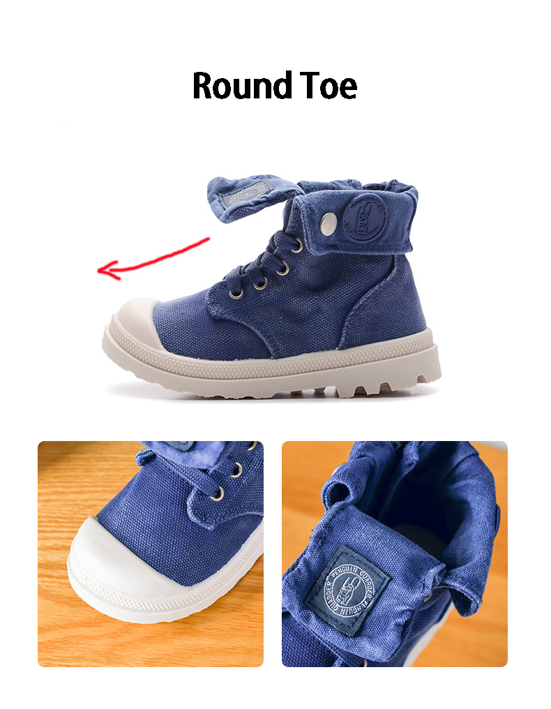 lona alta das crianças sapatos meninos e